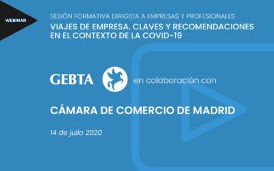 Viajes de empresa. Claves y recomendaciones en el contexto de la COVID-19